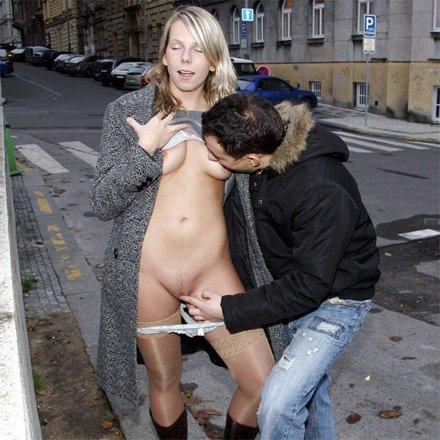 Fingering in public places